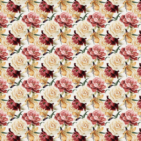 Autumn Rose Floral Printed Vinyl