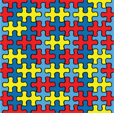 Autism Puzzle Patterned Vinyl