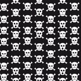 Black & White Skulls Patterned Vinyl