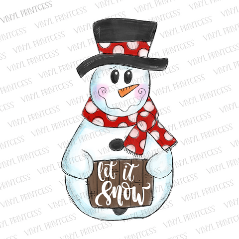 Snowman HTV Transfer  - Pre-Cut Heat Transfer Decal