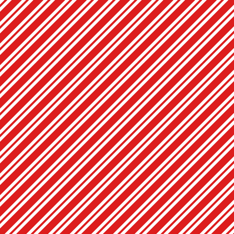 Red Candycane Stripes Printed Vinyl - Craft Vinyl