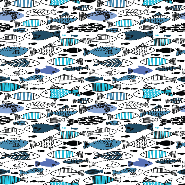 Under the Sea Fish Patterned Vinyl