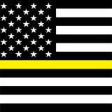 Thin Yellow Line Square Flag Printed Vinyl