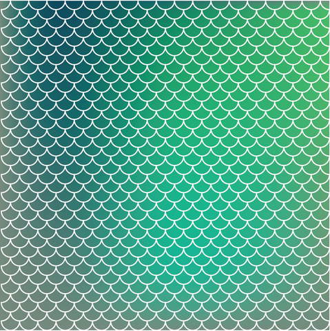 Mermaid Scales Turquoise Amp Green Ombre Printed Craft