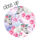 Unicorns and Roses Patterned Vinyl - Craft Vinyl - Watercolor Unicorns