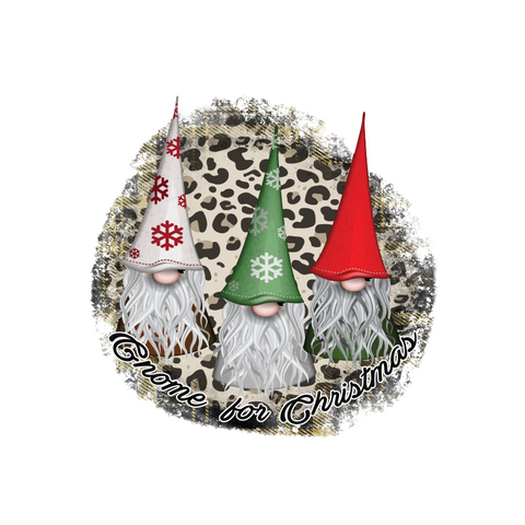 Gnome For Christmas Transfer - Pre-Cut Heat Transfer Decal
