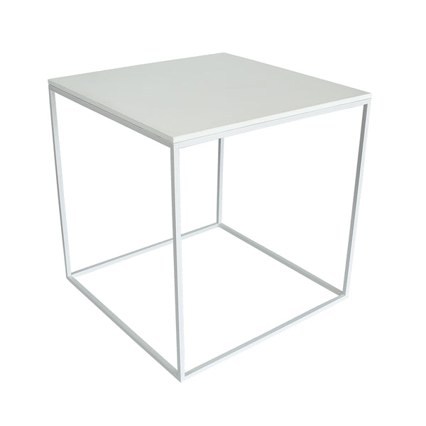 MoonSquare Side Table White Frame And White Table Top