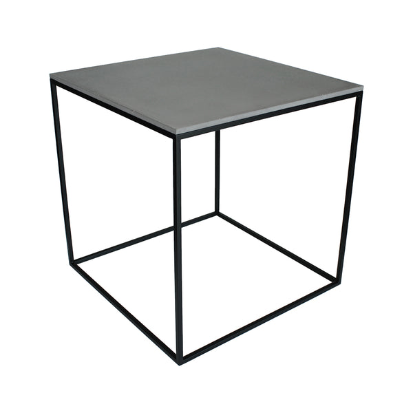 MoonSquare Side Table Black Frame And Grey Table Top