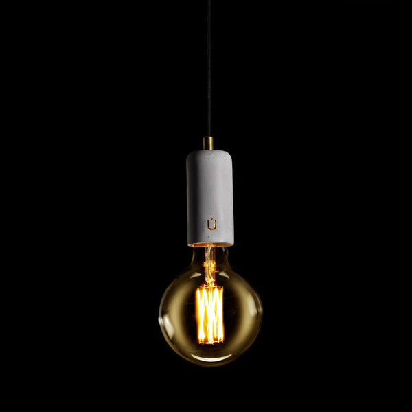 Long Mike White concrete pendant lamp by Unrefined Basel v2