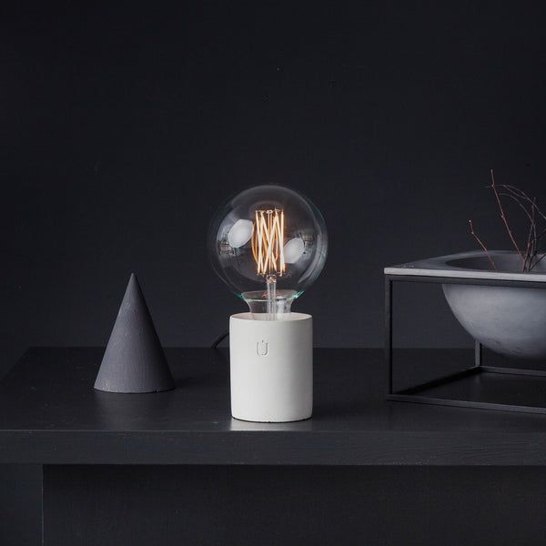 Lumi White Concrete Table Lamp