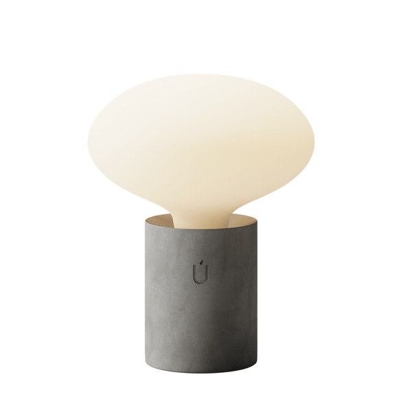 Lumi Grey Concrete Table Lamp with Tala Oval Bulb
