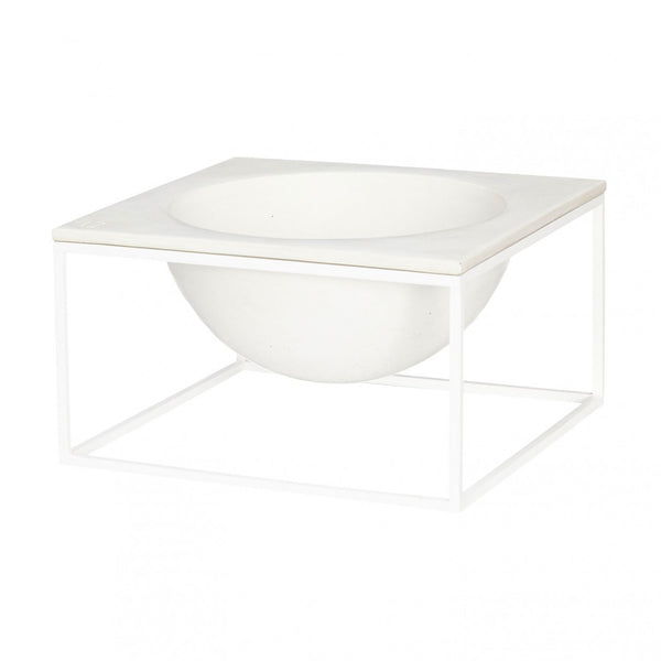 Moon Concrete Bowl White