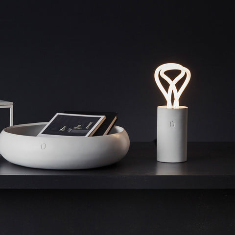 Plum Concret Lamp with Plumen 001 Bulb