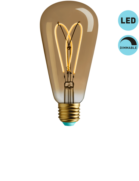 WHIRLY WILLIS - SUPER WARM LIGHT - DIMMABLE LED (GOLD TINT)
