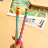 0.5mm Cute Kawaii Cartoon Crown Metal Automatic Mechanical Pencil Korean Stationery School Supplies for kids Free shipping 551