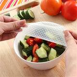 4 pcs Silicone Food Wraps Seal Cover Stretch