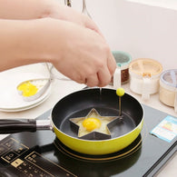 funny stainless steel Heart Round fried egg, Pancake