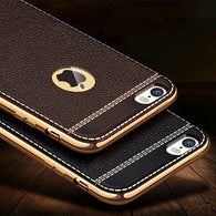 X Iphone Luxury Litchi Grain Painting Soft TPU