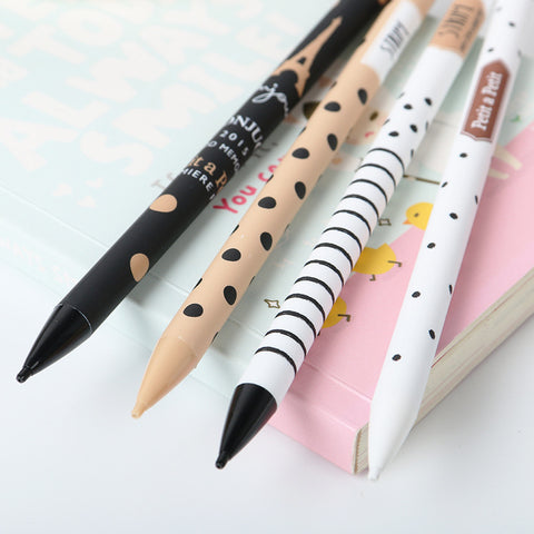 1PCS New 0.5mm Cute Kawaii Plastic Mechanical Pencil Lovely Dots Tower Automatic Pen For Kids Korean Stationery