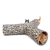 CAT ENTICING 3 WAY LEOPARD PRINT TUNNEL