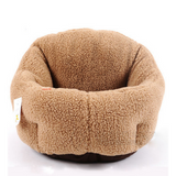 COTTON PADDED SOFT FLEECE CAT BED