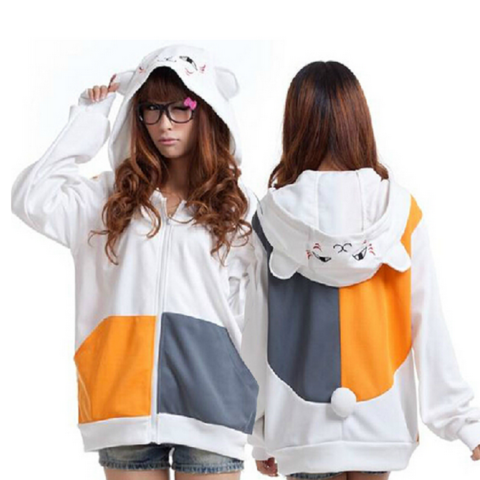 CUTE CAT ZIP-UP HOODIE