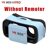 2016 Google Cardboard VR BOX 3.0 Pro1.0 2.0 Version Virtual Reality 3D Glasses + Smart Bluetooth Wireless Remote Control Gamepad