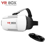 2016 Google Cardboard VR BOX 3.0 Pro1.0 2.0 Version Virtual Reality 3D Glasses + Smart Bluetooth Wireless Remote Control Gamepad - AmazingSolution