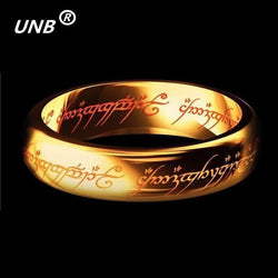 2016 Midi Ring Tungsten One Ring of Power Gold - AmazingSolution