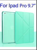 Case For Ipad Pro 9.7 inch 5 Shapes Fold Stand TPU Soft Smart Case Glitter Silicone Cover