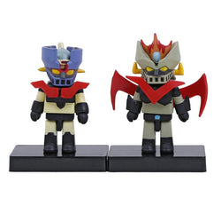 Anime Cartoon Mazinger Z Mini PVC Action Figures Collectible Toys 2-pack 8cm
