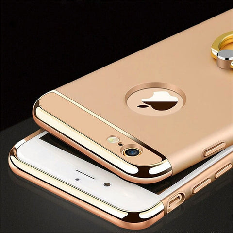 Luxury 3D Aluminum Metal Ring buckles finger Holder Stand Phone Case