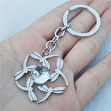 Fashion Resin Stone Keychains Stainless Steel Dragonflies Keyring Jewelry