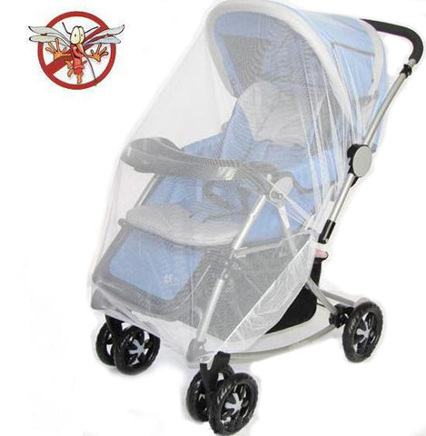 "BOHS Large Size  Stroller Fly Midge Insect Bug Mosquito Net Pram Baby Protector Pushchair  Full  Cover 59.05""X43.31"""