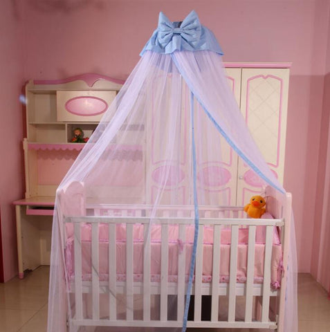... Baby Toddler Bed Crib Mosquito Netting Canopy Bowknot Dome Cot Mosquito Net Mosquito Bug Proof Mesh ... & Baby Toddler Bed Crib Mosquito Netting Canopy Bowknot Dome Cot ...