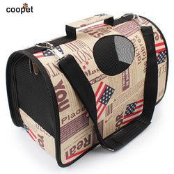 COOPET Designer Dog Bag Fashion Pet Carrier Portable Travel Cat Bag Carrier Transportin perro For Small Dogs Pet Products Shop