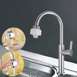 Dual Automatic Touchless Motion Sensors Faucet Fast Assembly Water Saver Tap Adapter for Any Sink Faucet in Kitchen Bathroom