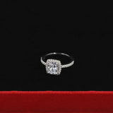 Fashion Show Elegant Temperament Jewelry Womens Girls White Sapphire Silver Filled Wedding Ring