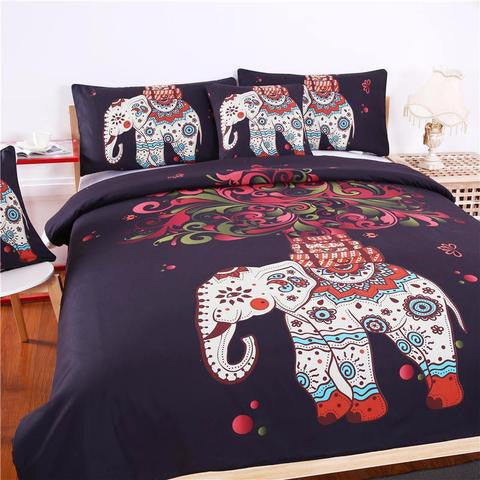 ELEPHANT MANDALA BED SHEET SET