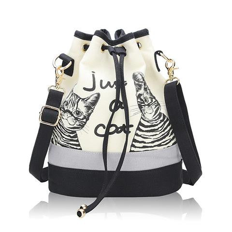 NEW FASHION CUTE CAT PRINT SHOULDER BAG