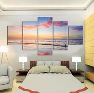 BEACH VIEW PANEL PAINTING