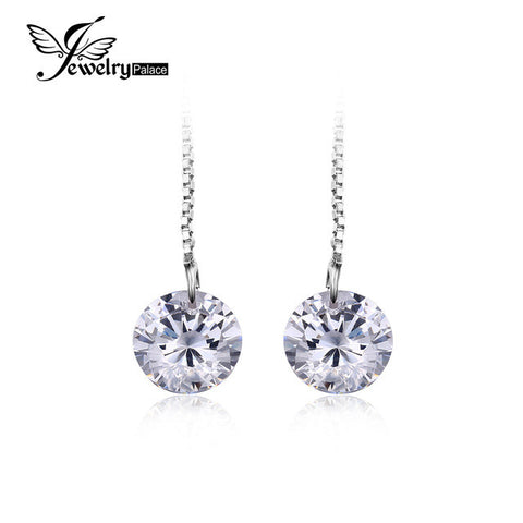 JewelryPalace 5.2ct  Round Cut Earrings Real 925 Sterling Silver