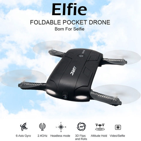 H37 Elfie Pocket Selfie Drone With Camera Wifi