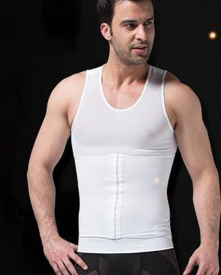 Mens Slimming Body Shaper Gynecomastia Vest For Chest Belly Waist Love Handles