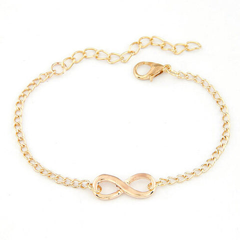 New Women Men Handmade Gift Charm 8 Shape Jewelry Infinity Bracelet