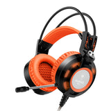 Sound Intone K6 Over Ear Casque Gaming Headset With Microphone Glowing Headphones LED Light USB PC Gamer for PC Computador