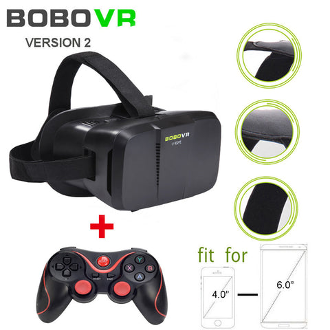 The Second Generation BOBOVR Z2 3D Virtual Reality Headset VR Glasse for Video Movie Game, Compatible with Smartphone gamepad