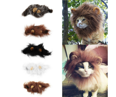 NEW CAT EMULATION LION HAIR HEAD CAP FOR AUTUMN, WINTER, AND DRESS UP COSTUME