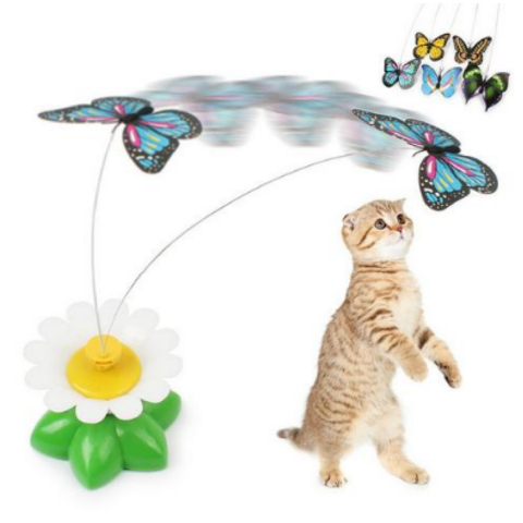 AWESOME ROTATING BUTTERFLY CAT TOY