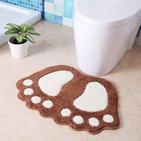 CUTE FOOTPRINTS BIG FEET BATH MATS
